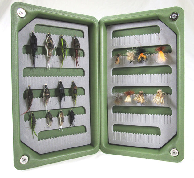 Light Weight Floating Olive Green EVA Fly Box- Standard Pocket Size