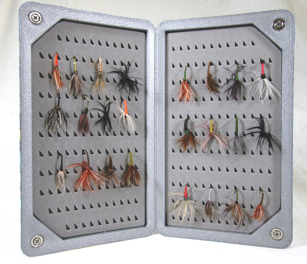 Kingfisher Light Weight Floating Designer Fly Box - Slim Size  #M1534