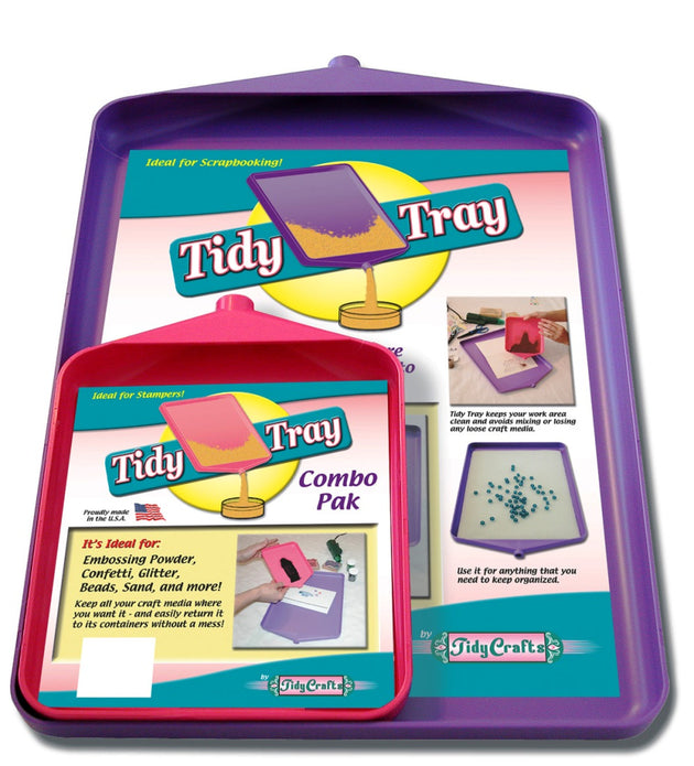 "Tidy Crafts - Tidy Tray Combo, 6"" x 8"" and 10"" x 14"", 2-Pack #1612"