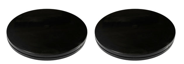 "Set of 2 - 6"" Black Turntable - ""Lazy Susan"" Type"