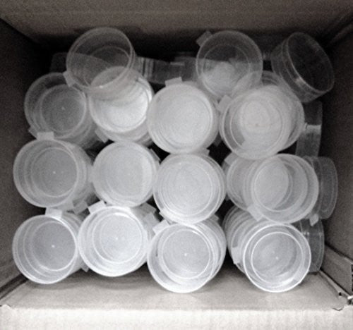 "Plastic Snuff Cup 2 1/2"" with removable lid 100 Bulk Count"