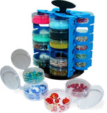 Carousel 24 Cup Bead, Hardware, Fishing, Craft Storage Organizers-1 Pair- with 1 Free Funnel Tray …
