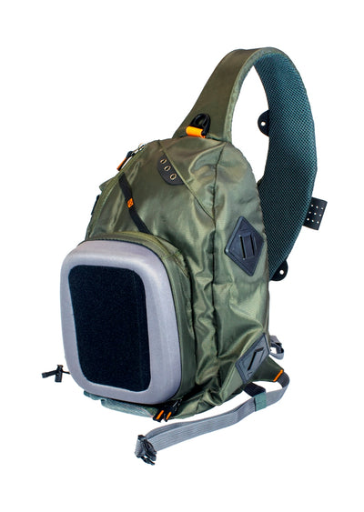 "Kingfisher ""Teton"" Premium Lightweight Fly Fishing Sling Pack #1809"