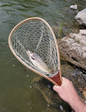 "Kingfisher Catch and Release Fly ""Ghost"" Fishing Landing Net W/ Free Net Holster #1939"
