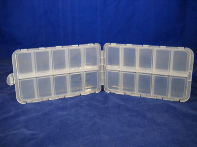 "6 1/2 ""--20 Compartment Poly Box each Compartment w/ Snap Lid - 400 Bulk Count"