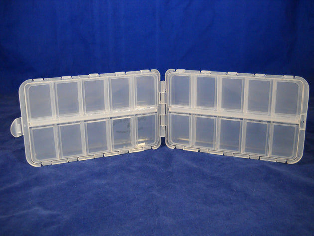 "6 1/2""--20 Compartment Poly Box each Compartment w/ Snap Lid - 40 Bulk Count"