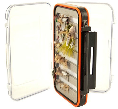Fly Fishing Box, 2 Sided, Clear, Water-Resistant, Tough, Holds Hundreds of Flies