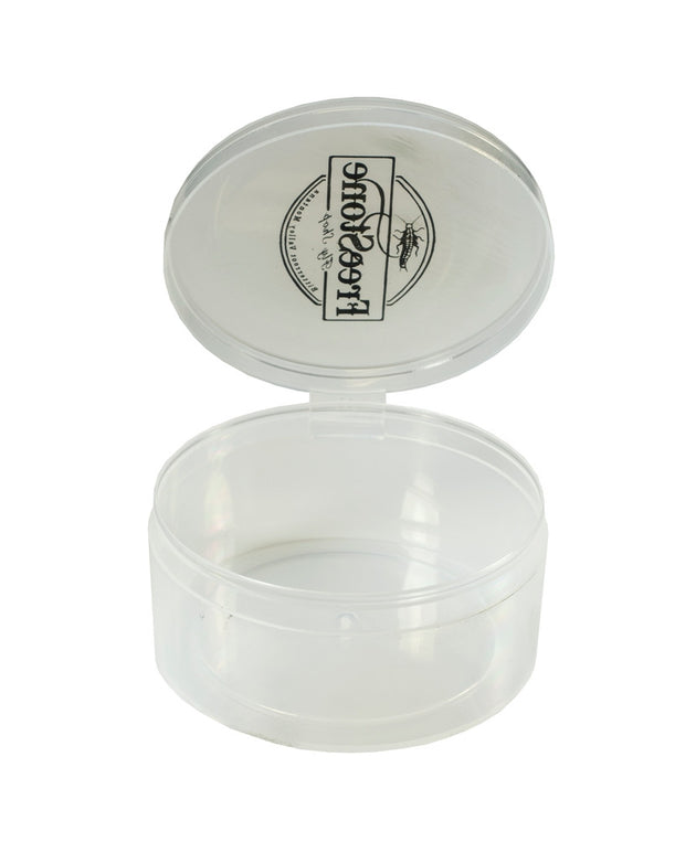 "6 Count - 3"" Diameter Plastic Containers w/ Attached Lids - Shuttle Cups"