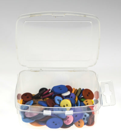 Large Clear Poly Snap Lid Container w/ Hang Tab- 200 Bulk Count