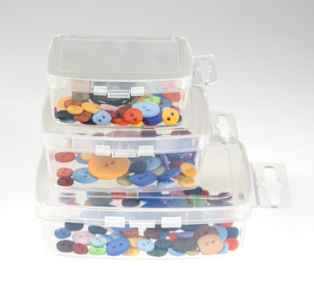 Medium Clear Poly Snap Lid Container w/ Hang Tab- 240 Bulk Count