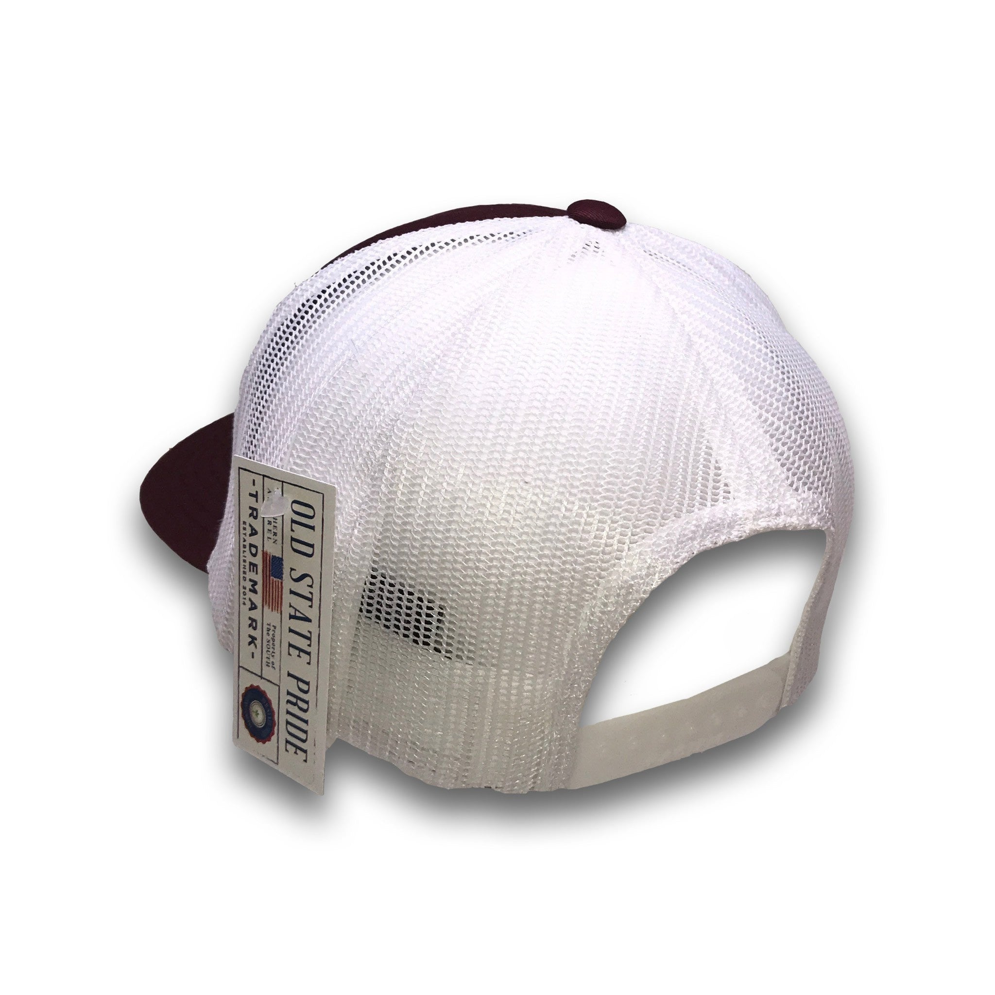 Old State Pride Hats Mississippi -MS State Logo Trucker Hats ... 27b6e664235