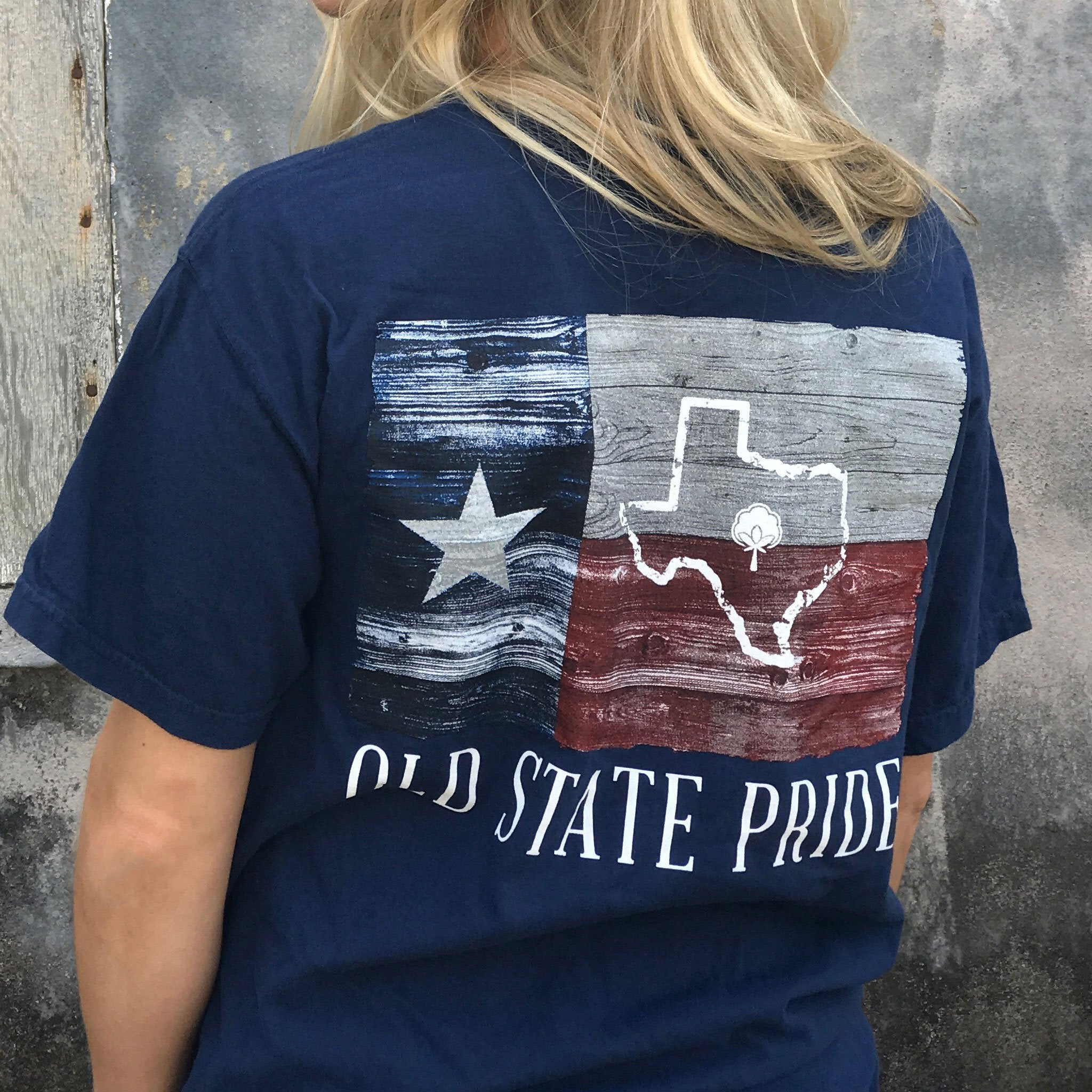 ... Old State Pride Small   Navy Texas State Flag Tee Shirt ... f5d0a59b50d2
