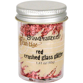 RED Crushed Glass Glitter, Stampendous Frantage, 1.4 oz. jar, for ICE Resin, Papercrafts, Scrapbook Embellishment, Mixed Media, cft0036