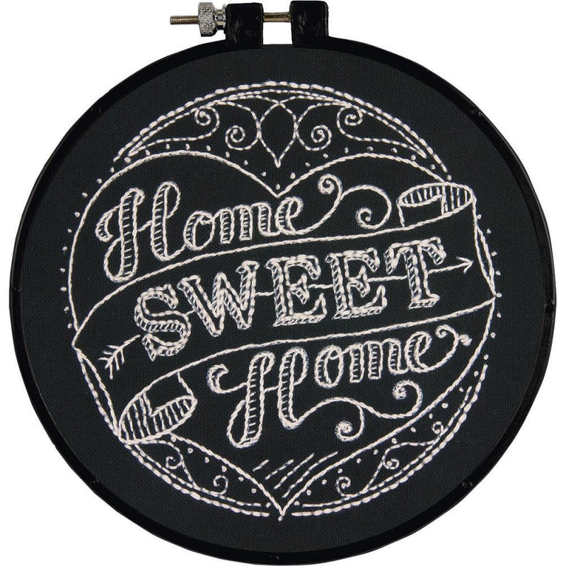 "Embroidery Kit, Home Sweet Home Pattern, 6"" complete DIY kit, kit0358"