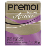 Premo Sculpey Accents Oven Bake Clay, Yellow Gold Glitter, 2oz, cla0013