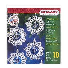 Beaded Lace Wreath Ornament Kit, makes 10 ornaments, kit0409