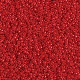 Size 11/0 Miyuki Round Seed Beads, Opaque Red 11-91684 24 grams, bsd0602