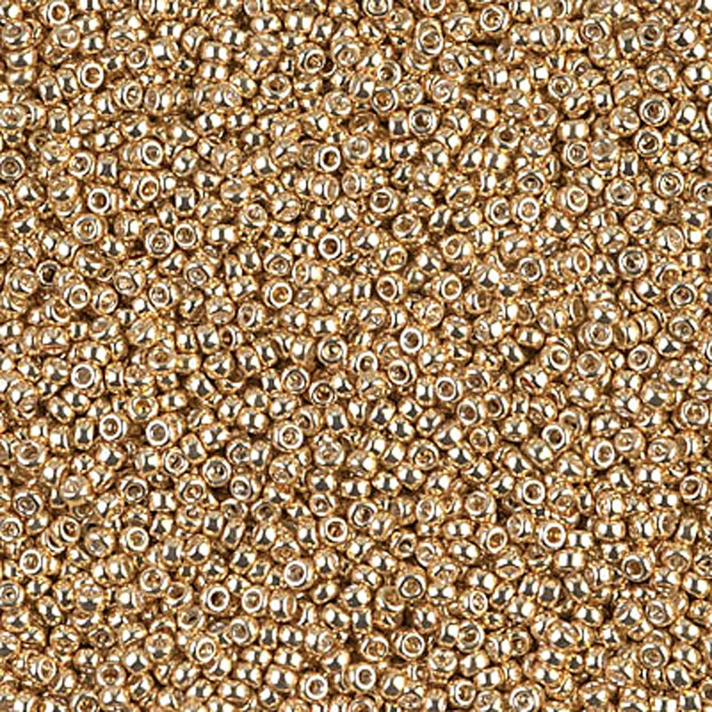 Size 15/0 Miyuki Round Seed Beads, Galvanized Yellow Gold 15-91053, 8.2 grams, bsd0251