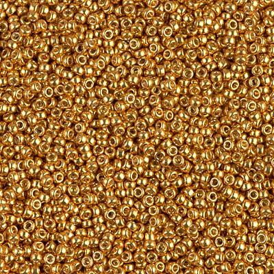 Size 15/0 Miyuki Round Seed Beads, Galvanized Yellow Gold 15-94203, 8.2 grams, bsd0231