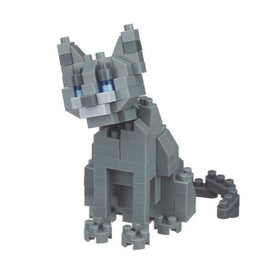 Russian Blue Cat Nanoblock Set, NBC266 nan0007