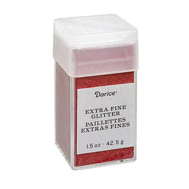 Cherry Red Extra Fine Glitter, 1.5 oz, cft0173