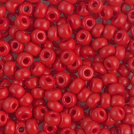 Size 6/0 Miyuki Round Seed Beads, Opaque Red 6-9408, 20 grams, bsd0242