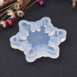 "2 RESIN Snowflake PENDANT MOLDS, Silicone Mold to make 1-3/4"" charm pendants, reusable, tol0861"
