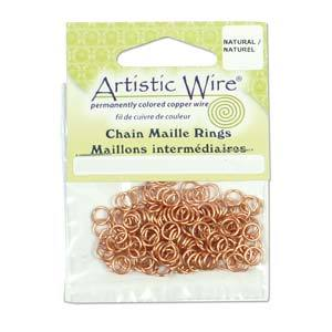 5.5mm Artistic Wire Jump Rings Copper 18ga 1mm, 160pcs, jum0235