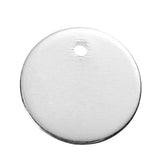 "10 SILVER Plated Metal Stamping Blank Charm Pendant, round circle disc, 10mm wide (3/8""), 17 gauge, msb0365"