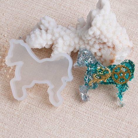 "Horse Resin Mold, Silicone Mold to make shape 1-5/8"" long, tol1012"
