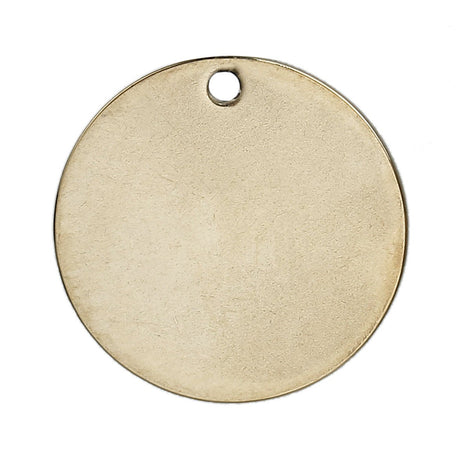 "5 GOLD Stainless Steel Metal Stamping Blanks Charms ( 20mm, 3/4"" ), ROUND DISC Tags, 19 gauge, msb0354"