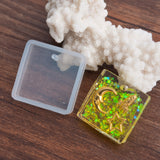 "2 RESIN Square PENDANT MOLDS, Silicone Mold to make rectangular 2.5cm (1"") charm pendants, reusable, tol0837"