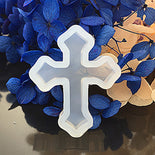 "GOTHIC CROSS Resin Mold, Silicone Mold to make shape 1-3/8"" long, tol0848"