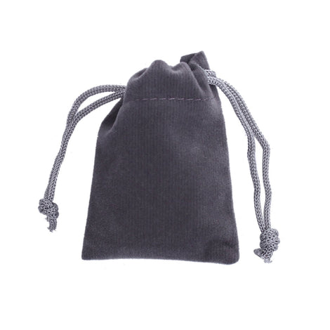 "10 Velvet Gift Bags, GRAY, drawstring, usable space 7x2cm, 2-7/8"" x 2"",  bag0097"