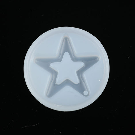 "Star Charm Resin Mold, Silicone Mold for Epoxy, 2-1/4"", tol1093"