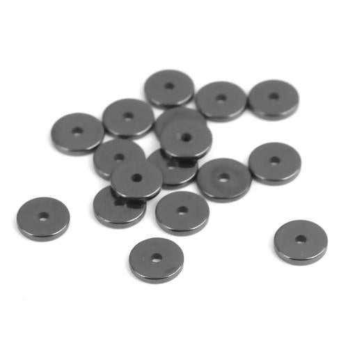 6mm Hematite Rondelle Beads, Gemstone Disc Beads, about 380 beads, GEM0675