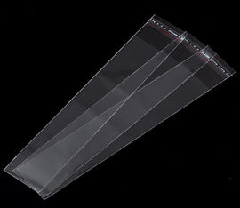 "200 Resealable Self-Sealing Bags, usable space 17x3.5cm, (6-5/8"" x 1-3/8"") bulk package cello bags, cellophane jewelry bags, bag0069"