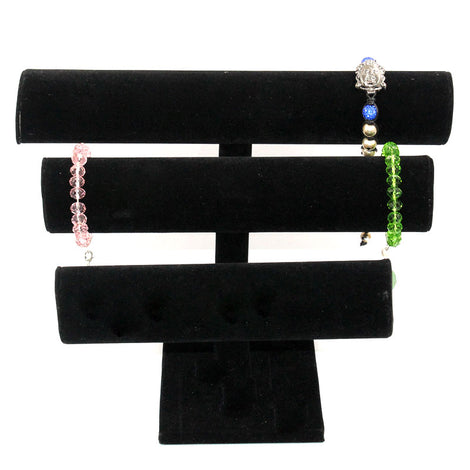 black velvet jewelry display, bracelet display
