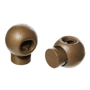 10 BRONZE Plastic Round 18x15mm Spring Cord Stoppers for Clothing, Shoes, and Bags  fin0211