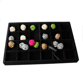 black velvet jewelry display tray
