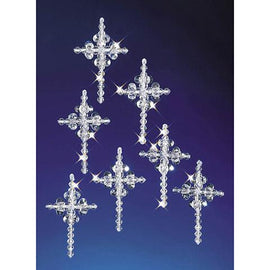 Beaded Cross Ornament Kit, makes 24 ornaments, kit0429