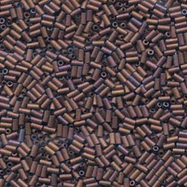 3mm Bugle Beads #1 Miyuki Matte Metallic Copper BGL1-92005, 19.5 grams, bsd0374