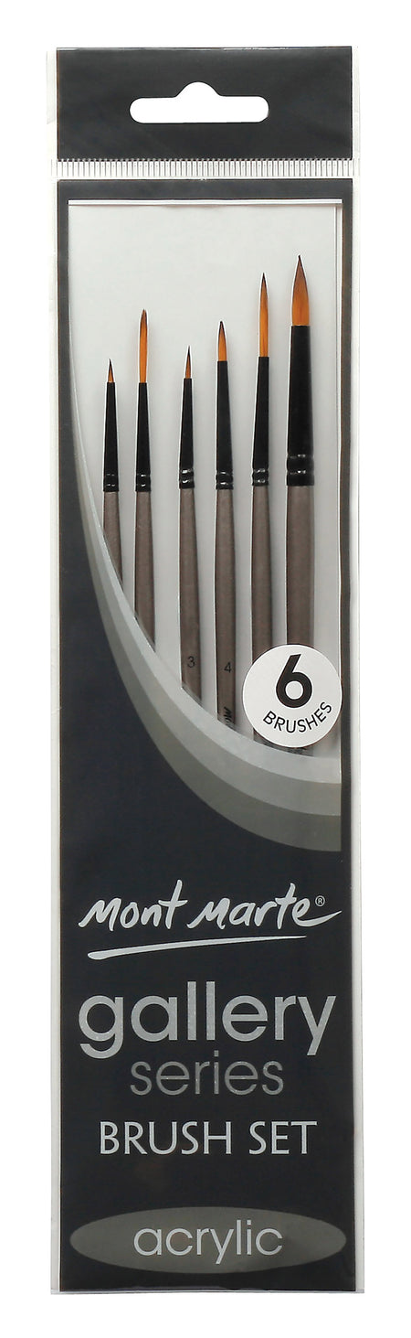 Gallery Paint Brush Set, set of 6, for acrylic, tol1120