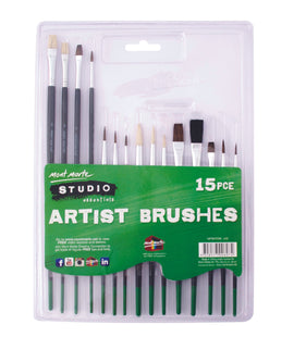 15 Paint Brushes, economy beginner set, tol1118