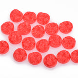 10 Round Resin CORAL DRUZY Cabochons, faux druzy, 12mm  cab0226