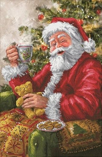 Diamond Painting Kit, Santa's Cuppa, Diamond Dotz Diamond Embroidery, Diamond Facet Art, Bling Wall Art, kit0372