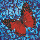 "Diamond Painting Kit FLUTTER BY RED Butterfly Diamond Dotz 12x12"" kit0201"