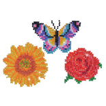 Diamond Dotz CLASSIC Butterfly Flowers Sparkle Stickers Rhinestone Facet Painting Kit kit0214