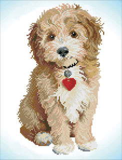 Diamond Painting Kit Lovely Boy Dog Diamond Dotz kit0466