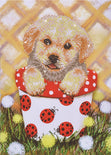 "Diamond Painting Kit PUP IN POT Diamond Dotz 11""x17"" kit0192"